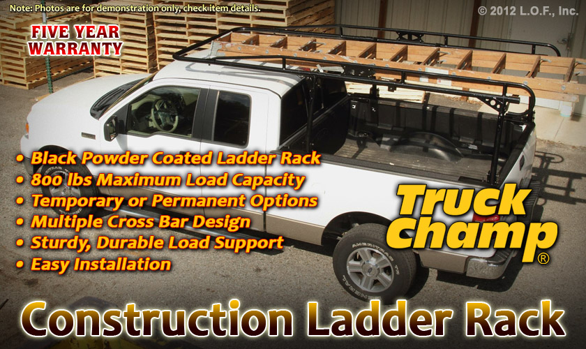 Heavy Duty Construction Ladder Rack LONG Cab Extension 1999-2012 FORD