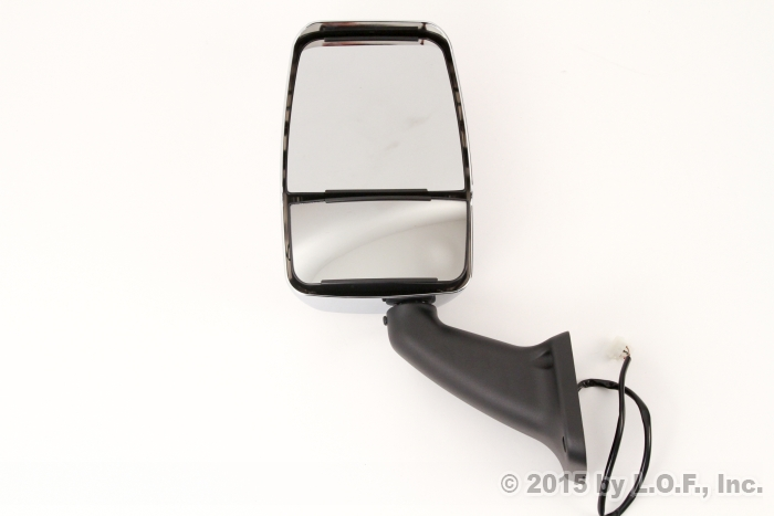 Rv Side Mirrors : Rv class a motorhome mirror driver left power chrome