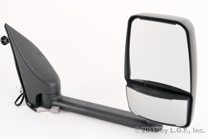 Rv Side Mirrors : Econoline towing rv van passenger power black right side