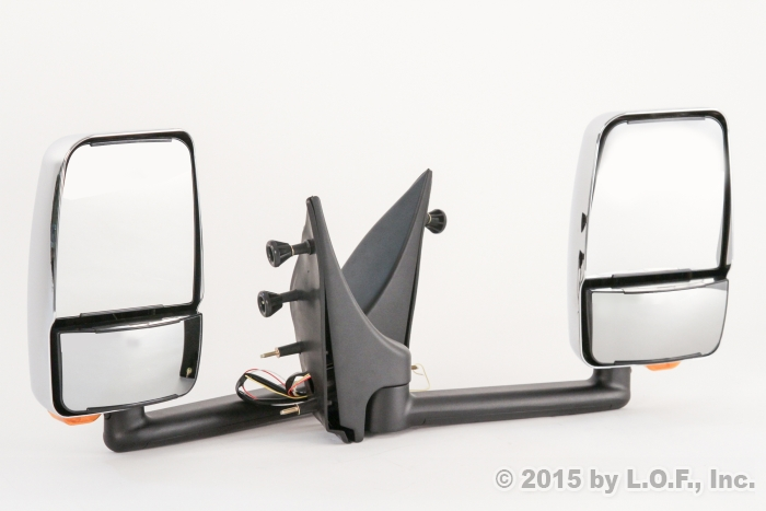 Rv Side Mirrors : Econoline towing rv van left right power chrome signal