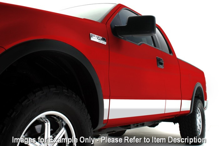 "Rocker Panel 8"" Wide Chrome Body Molding Kit 3M 03 08 Dodge RAM Quad Cab SB 1500"