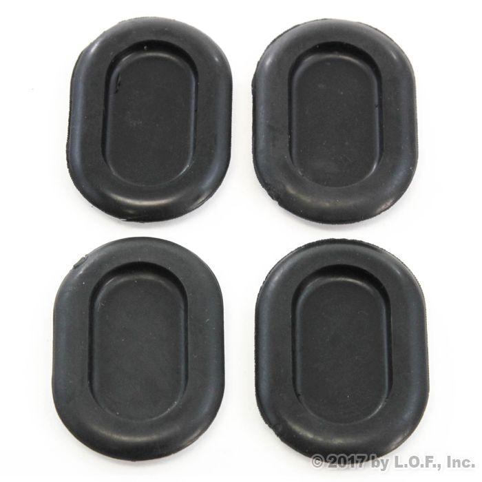 4 Jeep Wrangler 1999 2006 Tj Oval Shaped Rubber Floor