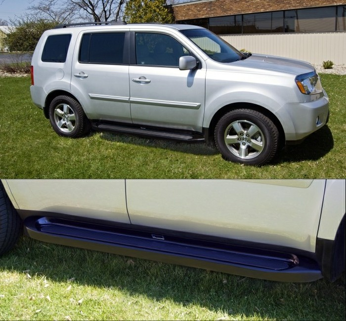 Custom Molded Running Boards 2012 Honda Pilot Black Factory Style