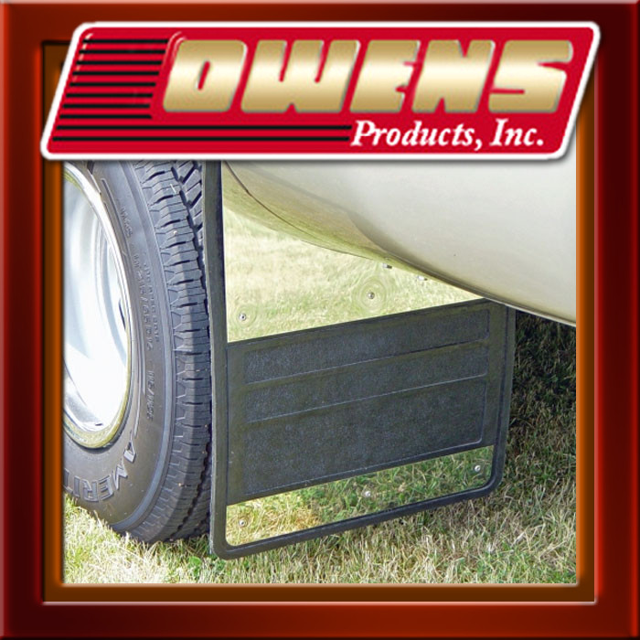 Dually Rear Rubber Mud Flap W/ Stainless Steel Chevy GMC