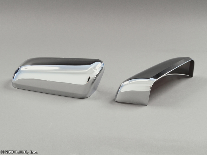 2009 2012 Ford F150 Chrome Door Mirror Cover Set Pair Both Top Half