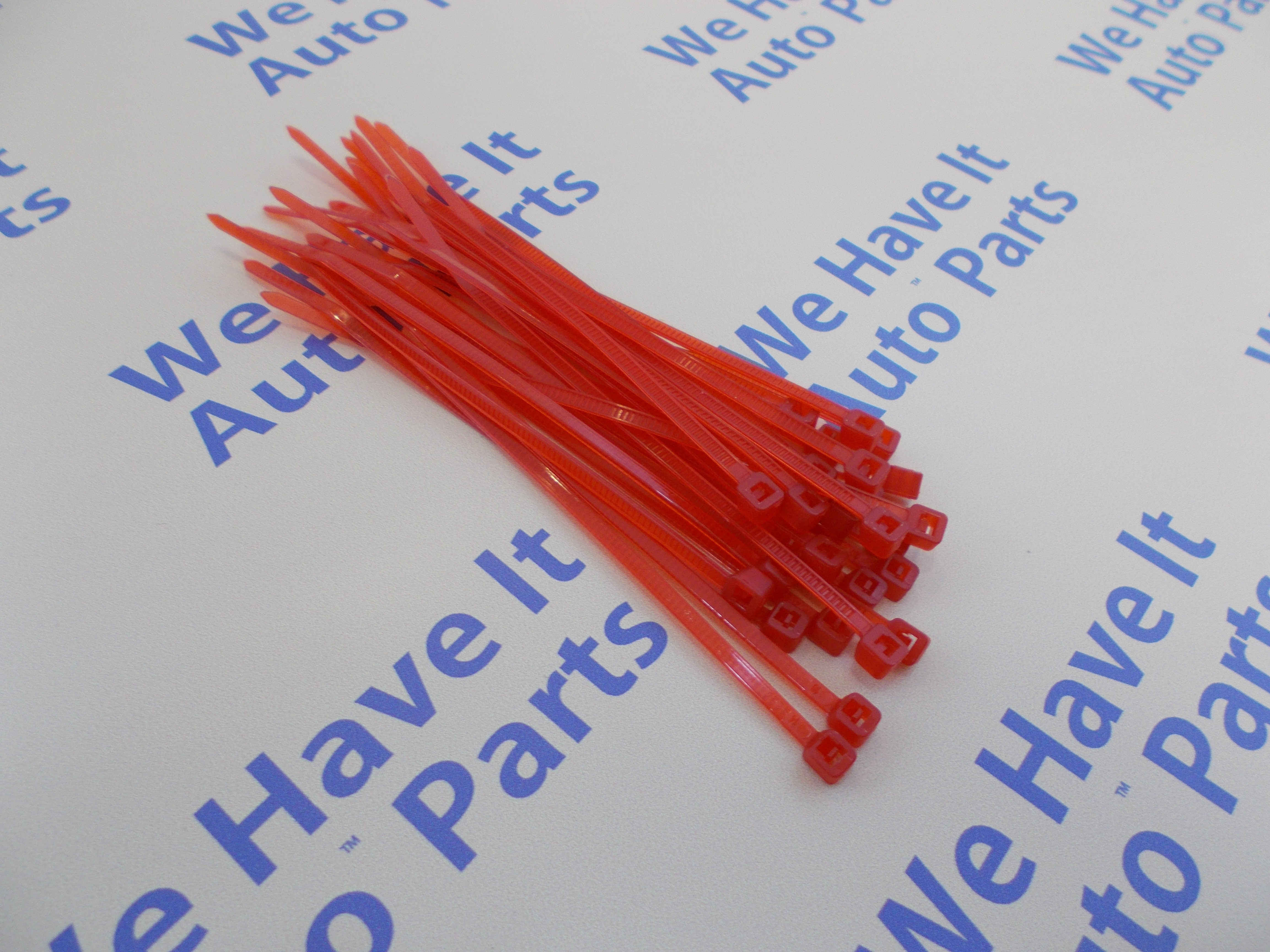 25 cable zip ties red 4 18