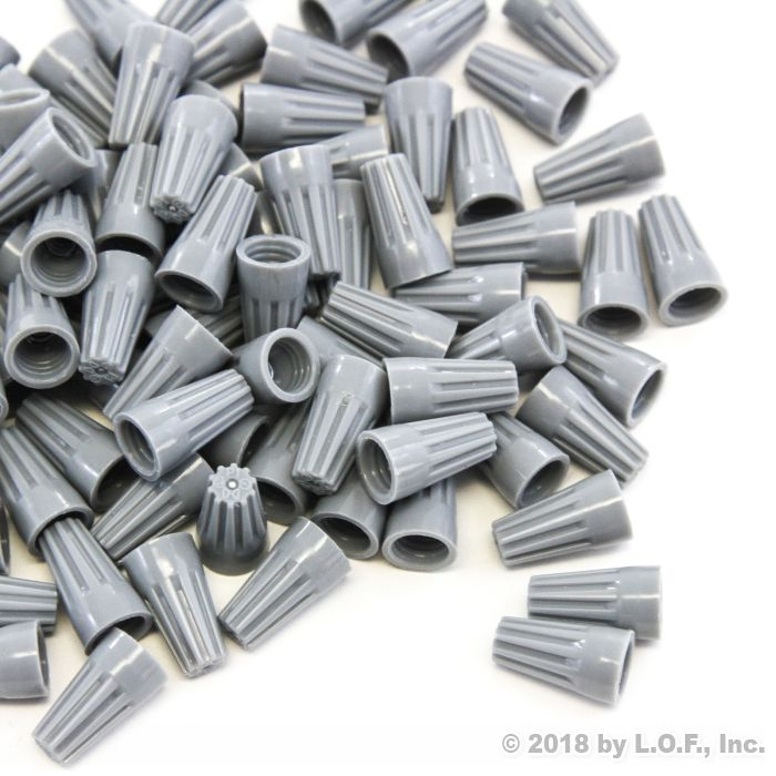 5000 pcs Grey Screw On Wire Electrical Connectors Twist-On Easy Screw Pack