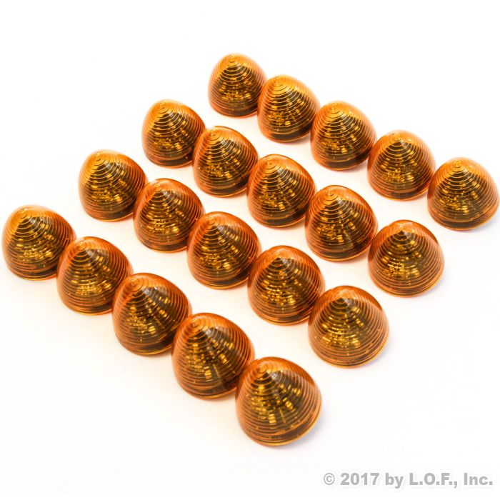 """20 New 2"""" Amber LED Beehive Side Clearance Marker Lights"""