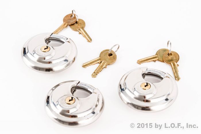 Details about  /Stainless Steel Disc Padlock